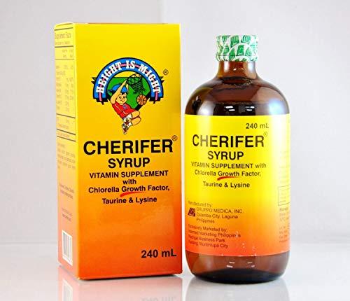 CHERIFER Syrup with Chlorella Growth Factor, Taurine & Lysine 240ml