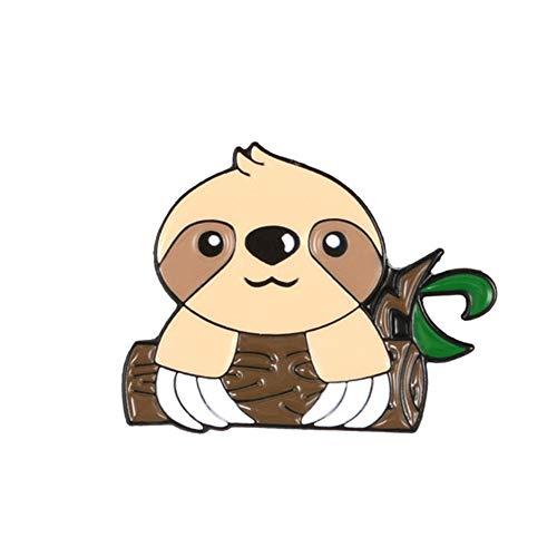 BBLLBrosche 15 Stile Niedliche Faultier Koala Emaille Pins Schöne Lazy Flash Abzeichen Denim Tasche Tier Schmuck Kinder Geschenke Broschen Anstecknadeln