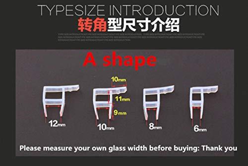 1m 6 8 10 12mm glazen douche rubberen afdichting siliconen afdichtingen schuifdeur scherm douchedeur raam schuur badkamer afdichting, een vorm, 12mm