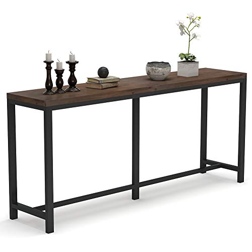 Tribesigns 70 Inch Extra Long Sofa Table,Rustic Solid Wood Console Tables Behind Couch Table Hallway Table for Living Room Entryway
