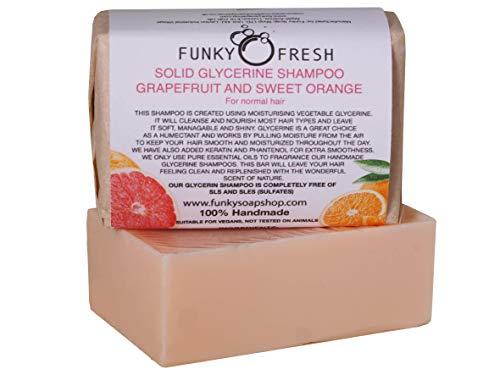 Glicerina Champú, Pomelo & Naranja Dulce para Cabello Normal, 95g