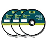 Rio Fly Fishing Tippet Power Flex-Plus Tippet 3 Pack 4X-6X Fishing Tackle, Clear