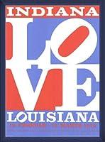 ポスター ロバート インディアナ Love louisiana 額装品 ウッドベーシックフレーム(ブルー)
