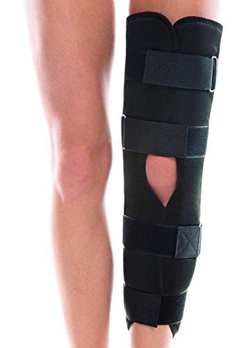 Ortopédico Bisagra Larga Estabilizador Rótula Refuerzo De Apoyo De La Rodilla Ajustable 40 cm Negro
