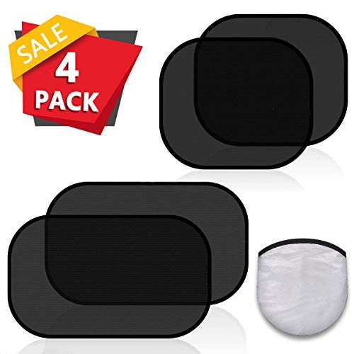 Side Window Car Sun Protector Out Over /& Minleer 2 Pack Solar Car For Children