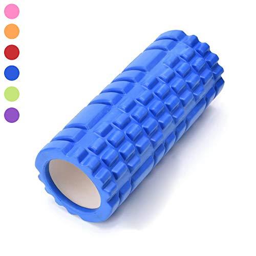 TWJH faszienrolle wirbelsäule, Trigger Point Foam Roller 33x14cm (Blau)
