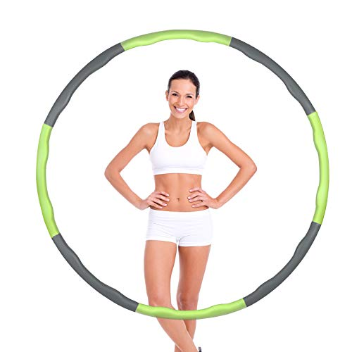 Hula Hoop, Professional Hula Hoop Adultos Fitness, Hoola Hoop para Adultos Ajustable y Extraíble, Hula Hoop de Fitness para pérdida de Peso para Fitness, Gimnasia