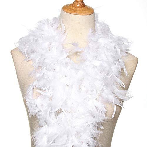 Axing Feder-2M Kostüm-Abendkleid-Partei-Decoration Wedding Supplies Federn Bekleidungszubehör Streifen Bekleidung Stoff (weiß)
