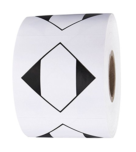 """SMAR 2""""x 2"""" Square Ground Shipping Labels Dangerous Goods Labels for Warehouse Handling Transport Shipping Blank Diamond Limited Quantity Stickers 500 Pcs"""