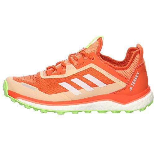 adidas Terrex Agravic Flow W, Zapatillas Deportivas Mujer, Amber Tint/FTWR White/Signal Green, 39 1/3 EU