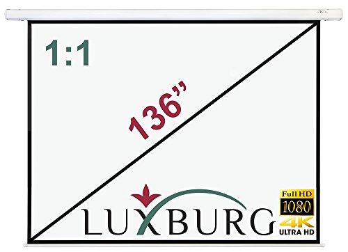 Luxburg® 100 inch Beamer canvas plafond montage/motorscherm met afstandsbediening / 203x152cm / glasvezel/formaat 4:3