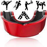FANDE Protège-Dents de Sport, Gumshield Adulte, pour MMA, Football, Football, Arts Martiaux, Boxe, Jeunesse et Adulte, Noir Rouge