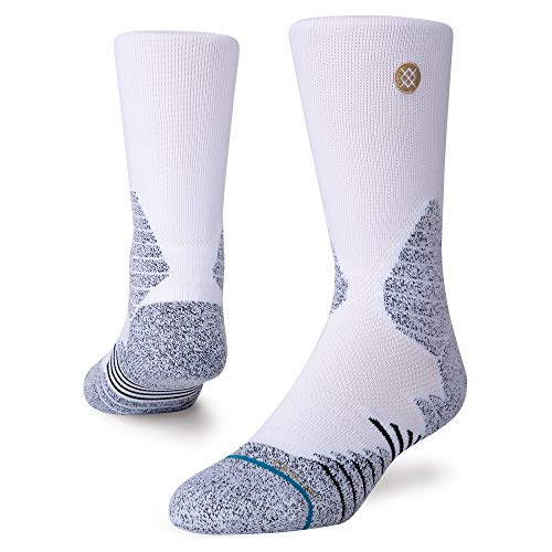Stance Men's A557A20IHC Icon Hoops Crew Sock, White - Medium