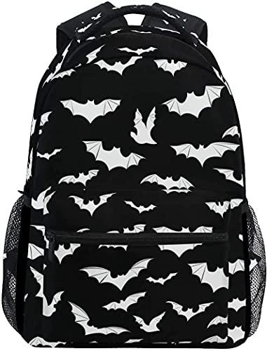 Fledermäuse Halloween Goth Damen Rucksack Multifunktions Schultaschen für Kinder Lunch Handtaschen