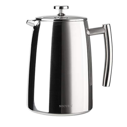 Secura SFP-50DSC French Press, 50-Ounce, Stainless Seel