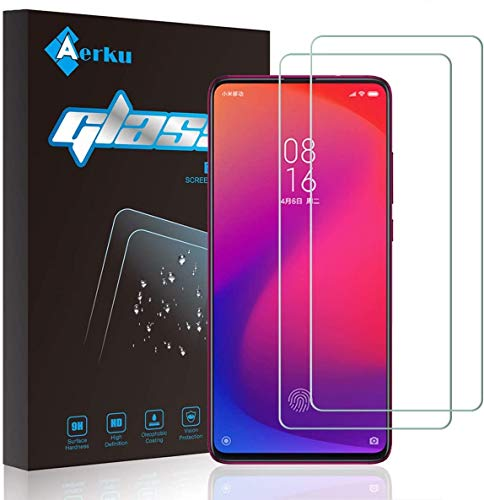 Aerku Pellicola Vetro Temperato per Xiaomi Mi 9T / Xiaomi Mi 9T PRO [2 Pezzi], 2.5D Ultra Sottile HD Anti Graffi Trasparente Pellicola Protettiva (Transparente)
