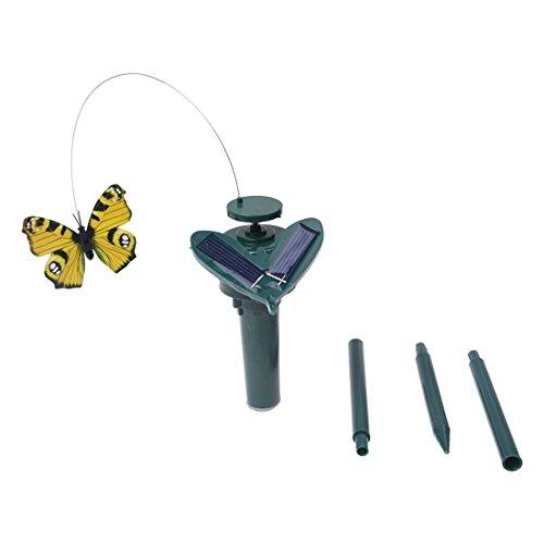 TOOGOO(R) Mariposa Que Revoloteaba Con La Energia Solar Panel De Plastico - Color al azar
