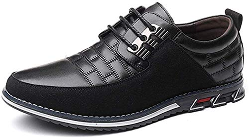 Harvards - Hybrid Leather Shoes Zapatos de hombre (Black,US 13/CN47)