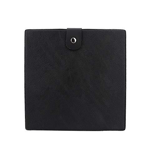 Kapper Gereedschapstas, Draagbaar Akozon PU Knipgereedschap Opbergkoffer Schaar Kam Tondeuse Haarstylinggereedschap Container Gemakkelijke toegang tot accessoires (zwart)