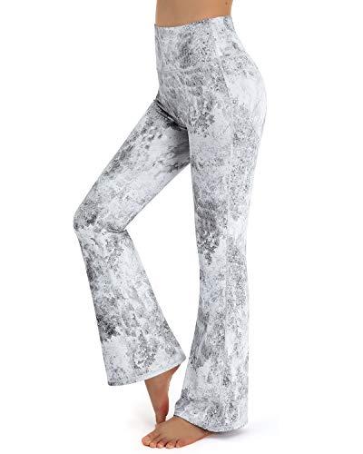 Promover Bootcut Yoga Donna a Gamba Larga con Tasche Pantaloni a Zampa Donna Elefante Elastici Yoga Pilates Danza Fitness Palestra Allenamento