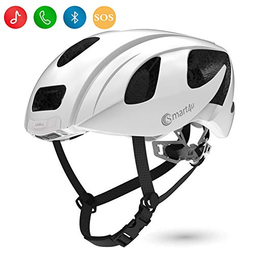 Smart4u Smart Helmet with LED taillight & Turn Indicators, Connects via Bluetooth, Certified...