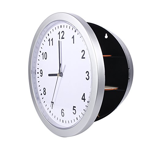 Yosoo Health Gear Reloj de Pared Secreto, Caja de contenedor Seguro de Trabajo a batería de 9,8 Pulgadas para Guardar Dinero, Joyas, Objetos de Valor, Almacenamiento de Efectivo o Uso en la Cocina y