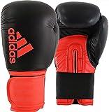 adidas Hybrid 100 Boxing Gloves - Black/RED, 16 oz