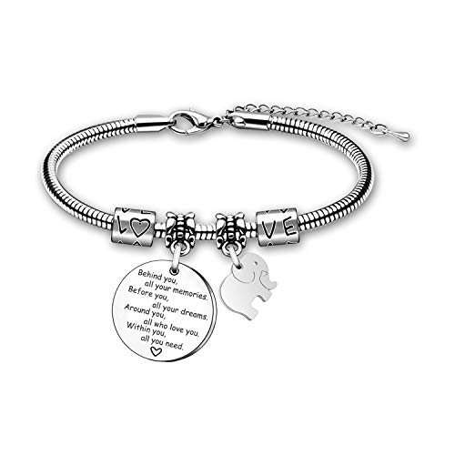 Adjustable Bangle Behind You All Your Memories Bracelet Family Friend Gift for Women Girl