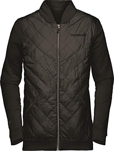 Norrona W Roldal Warmwool1 Jacket Schwarz, Damen Isolationsjacke, Größe S - Farbe Caviar