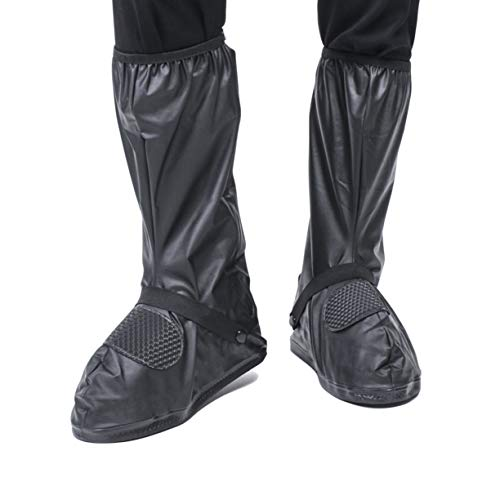 VXAR Waterproof Shoe Cover Motorcycle Black3 4XL
