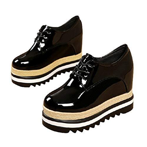 Zapatos de Plataforma de Ocio con Cordones para Mujer Zapatos de Trabajo Formales de Primavera y otoño Ligeros para Uso Diario al Aire Libre