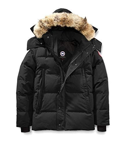 Canada Goose Wyndham Parka Jacket Black Mens Sz L