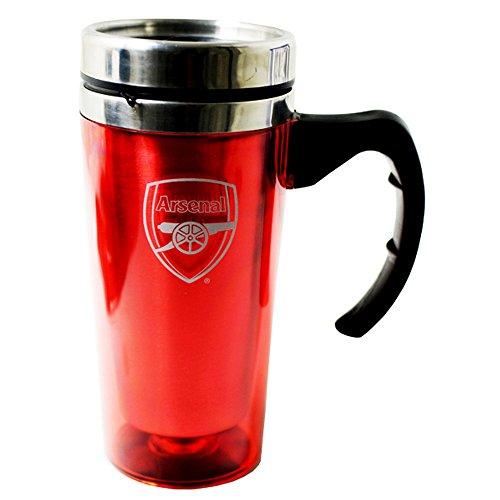 Arsenal FC Officiel Aluminium Football Mug Voyage - Rouge, One Size