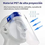 Pantalla Protección Facial - 10 Pcs Protector Facial de Seguridad, Cómoda, Visera Ajustable, Reutili... #1