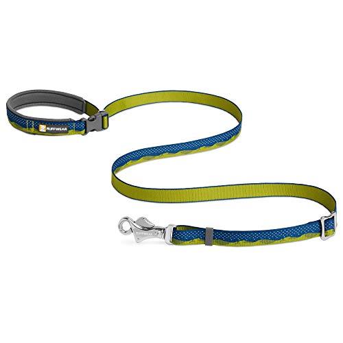Ruffwear Crag Hundeleine, Kann in der Hand Gehalten oder um die Hüfte Getragen Werden, Reflektierende und Verstellbare Leine, Grüne Hügel