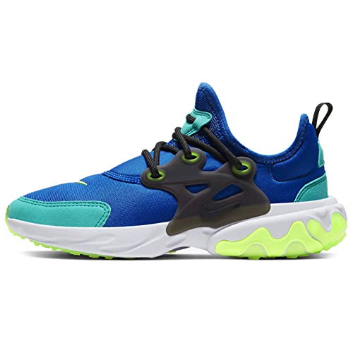 Nike Big Kids React Presto Running Shoes (Hyper Blue/Black/Oracle Aqua/Ghost Green, Numeric_4_Point_5)