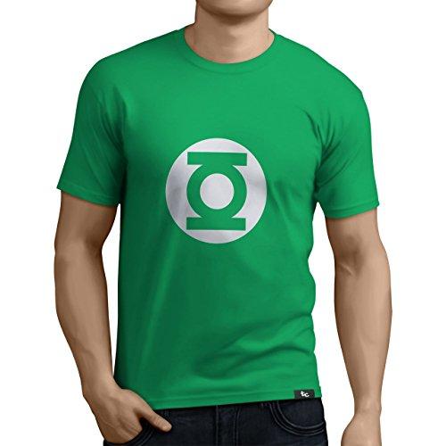 Tuning Camisetas - Camiseta Divertida para Hombre - Modelo LinternaVerde, Color Verde- Talla XL (0183-Verde-Linterna-Verde-XL)