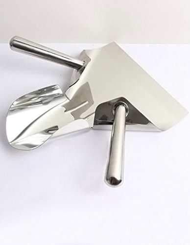 Cozyle Kitchen All Steel Double Handle Fries Shovel Silver