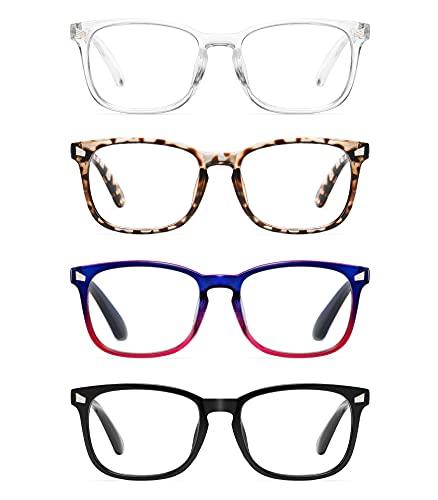 CCVOO 4 Pack Blue Light Blocking Reading Glasses, Anti...