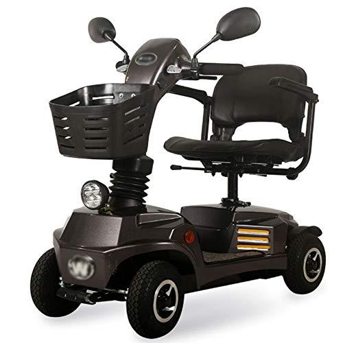 E Scooter Senioren Falbar,e Rollstuhl Faltbar Leicht Elektrofahrzeug Quad,elektroroller Für Behinderte 120kg,elektroscooter Mit Strassenzulassung Elektromobile Für Senioren 9 Km/h Elektromobil,Gray