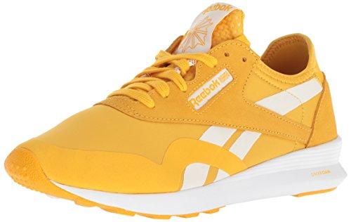 Reebok Women's Classic Nylon Walking Shoe, Fierce Gold/White, 8 M US