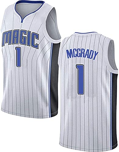 HZHEN Tracy McGrady 1# Jerseys, Orlando Magic, Ropa De Baloncesto para Hombres, Tela Fresca Y Transpirable, Chaleco Sin Mangas Swingman, Ropa Superior,1,XL (180~185CM / 85~95KG)