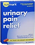 Sunmark Urinary Pain Relief Tablets - 30 Tablets, Pack of 3