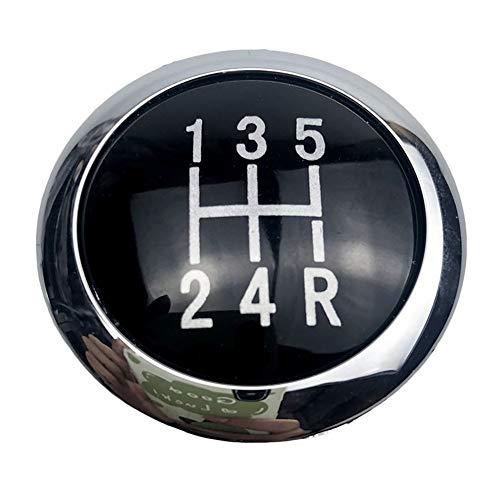 WSF-Gear Shift knob, 1pc 5/6 Velocidad Car Styling Placa Palanca de Cambios Perilla Emblema embellecedor de la Cubierta Superior Fit Vauxhall Opel Astra H III Corsa D 2004-2010 Negro