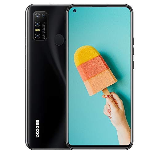 DOOGEE N30 (2020) Dual SIM 4G móviles, 6.55 FHD + Pantalla Smartphones Libres Android 10 4GB RAM 128GB ROM, Cámara 16 MP + 8 MP 4500 mAh - Negro