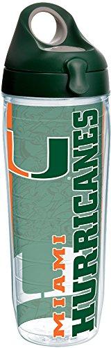 Tervis 1220219 Miami Univ College Pride Wrap Botella de agua con tapa verde cazador, Tritan, transparente