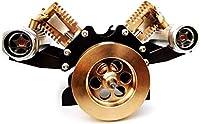 真空スターリングエンジンキット、V字型吸引スターリングモーターモデル物理スターリングエンジンジェネレーター蒸気教育玩具