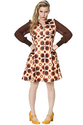 Verboden kleding retro-avontuur jurk met lange mouwen