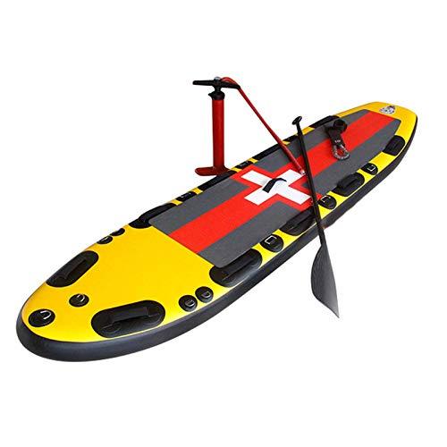 Tabla De Paddle Surf Hinchable,Unisex Tabla SUP Paddleboard Kit,Stand Up Paddle Board,15 CM De Espesor,Kayak,Almohadilla Integrada,Accesorios Completos,317 * 81 * 15Cm