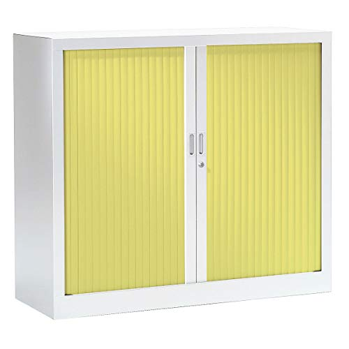 Armoire Monobloc à rideaux | Blanc | Anis | HxLxP 1000 x 1200 x 430 | Certeo